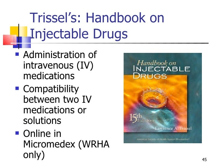 Trissels handbook of injectable drugs pdf