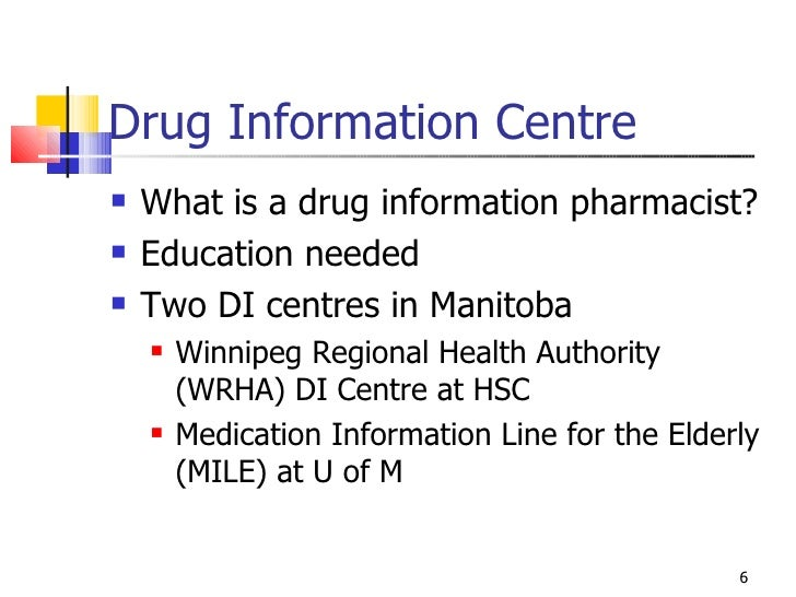Principles Of Drug Information 2008