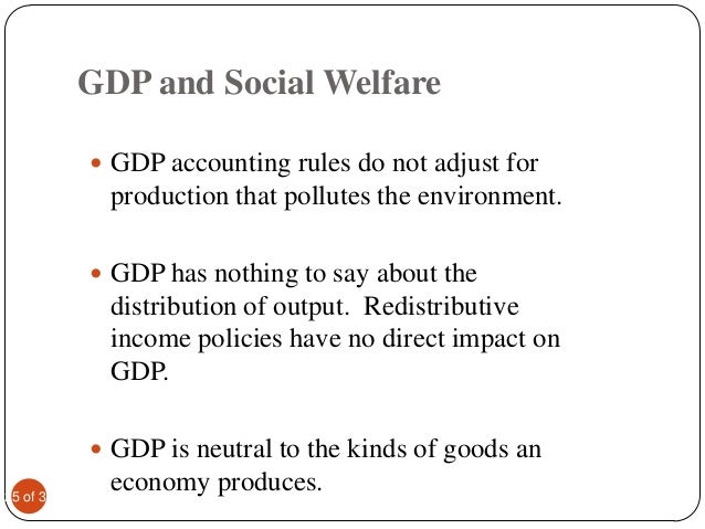 national income and economic welfare National income measure of welfare  why might rises in national income be deceptive as  although the rate of change in gdp can be used to measure economic.