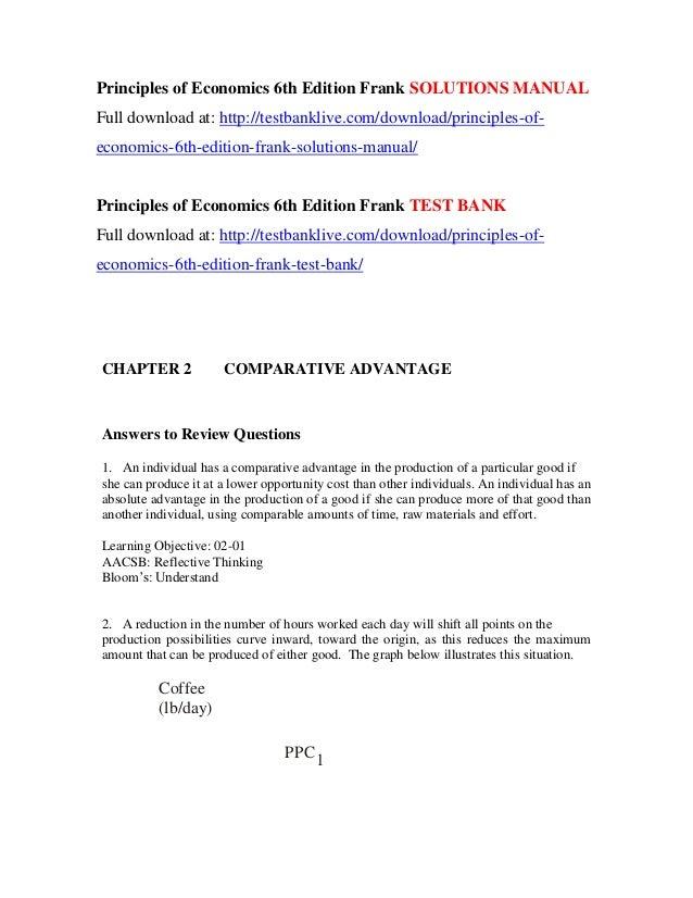 Principles Of Economics 6th Edition Frank Solutions Manual