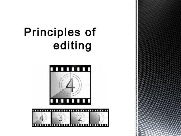 Principles ofediting
