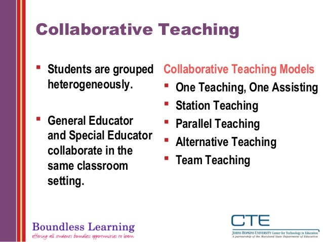 Collaborative Teaching : Principles of effective collaboration mm