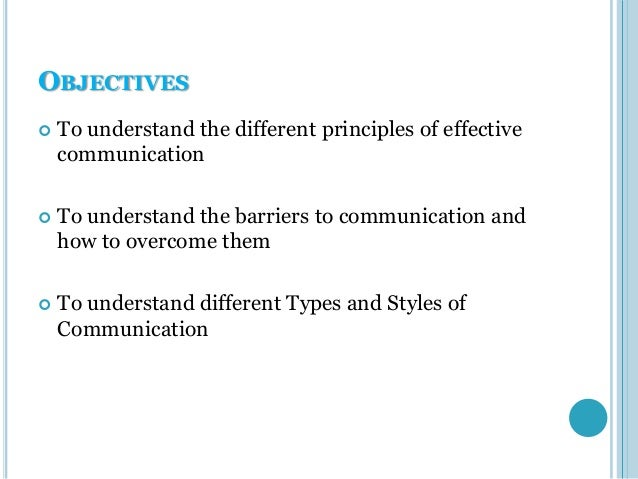principles of effective communication essay
