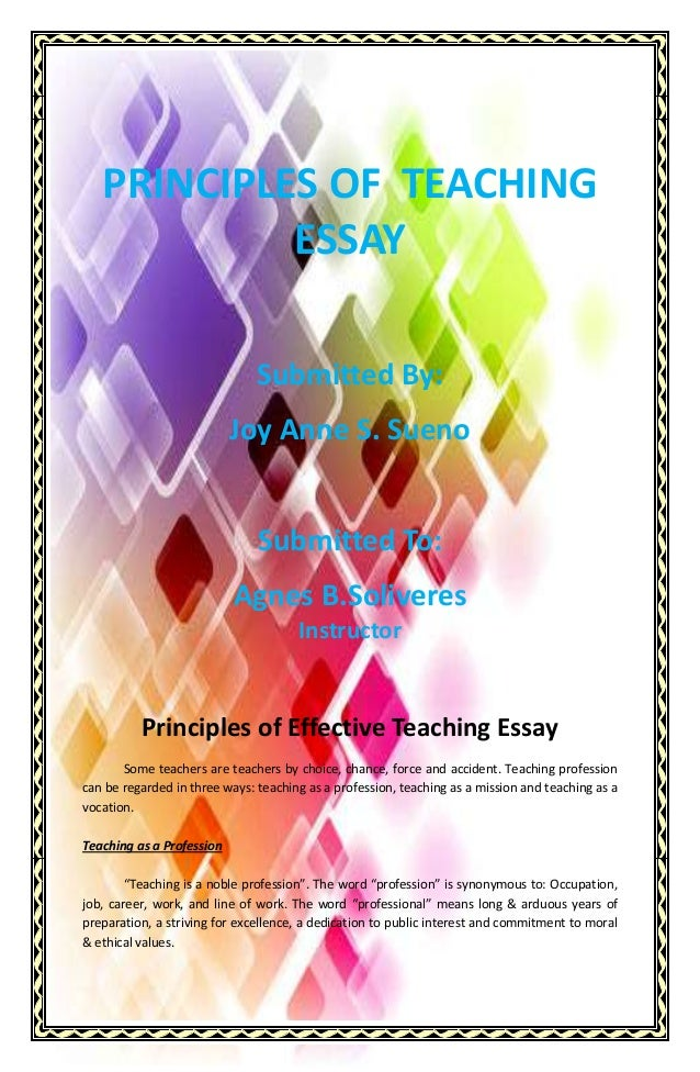 the teaching profession essay