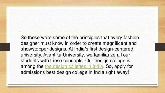 Principles Of Fashion Design Avantika University