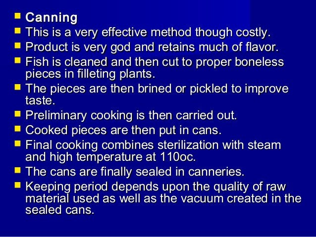 Principles of fish preservation and processing