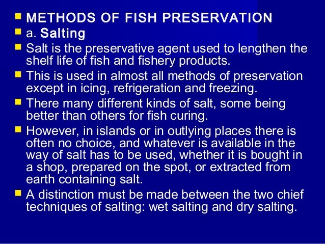 fish processing and preservation pdf