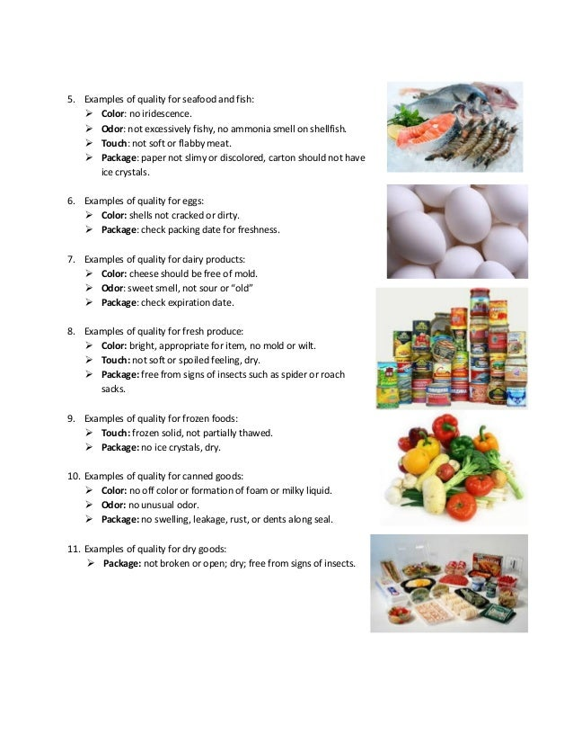 Procedures To Maintain Food Safety When Storing Food