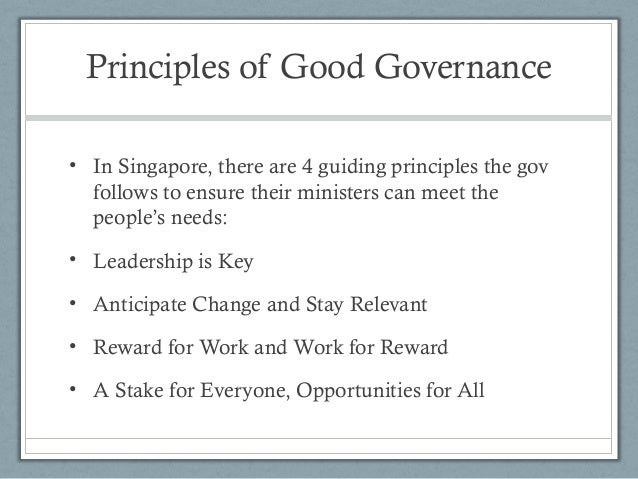 general principles of good governance Why good governance should be a priority for each sport organisation  accept  and comply with the basic universal principles of good governance the ioc.
