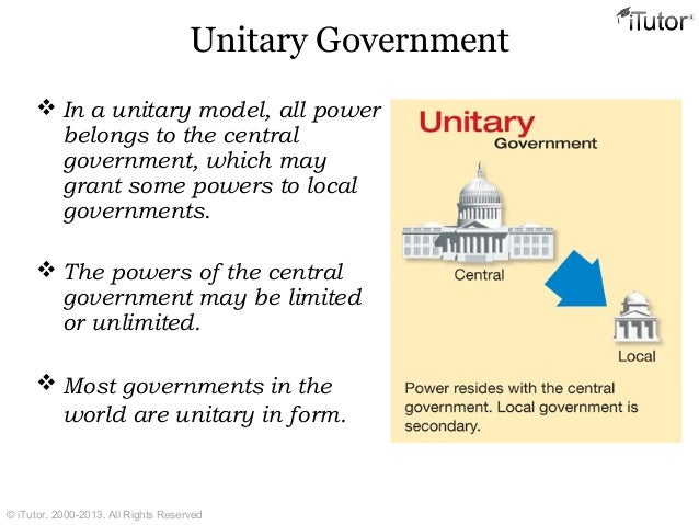 what is the definition of unitary system