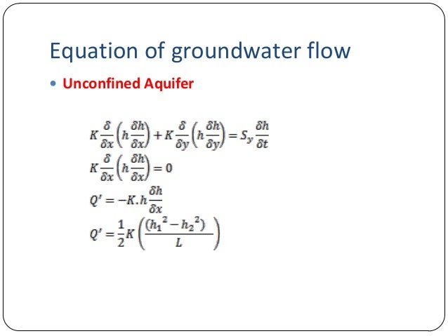 Derivation of groundwater flowDerivation of groundwater ...