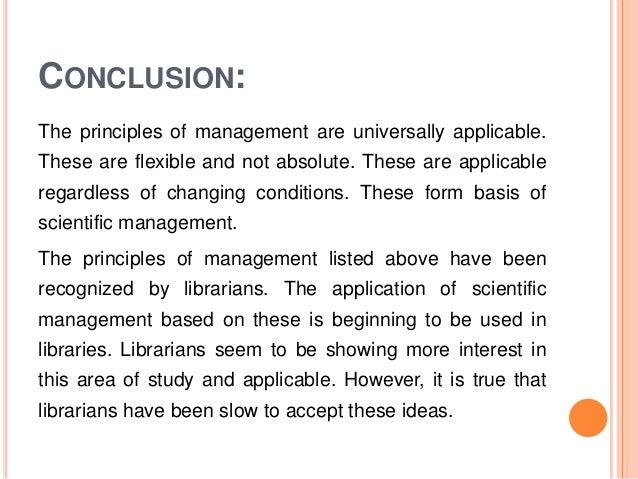 Business management conclusion