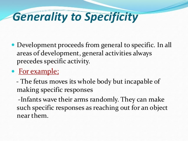 Principles Of Human Growth And Development