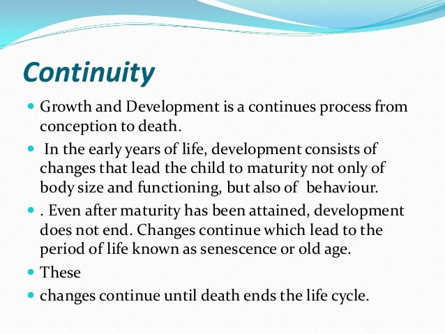 continuity versus discontinuity Test your knowledge of continuity and discontinuity in development with a printable worksheet and interactive quiz the practice questions will.