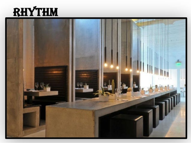 Principles of interior design for Rhythm by transition