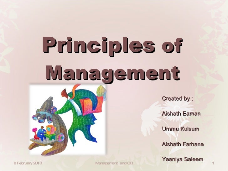 8 managtement priciple Quality management principles outline introduction the to 8 qmps implication of the principles application of the principles quality management principles the revised iso 9000:2000 series of standards are based on 8 quality management principles.