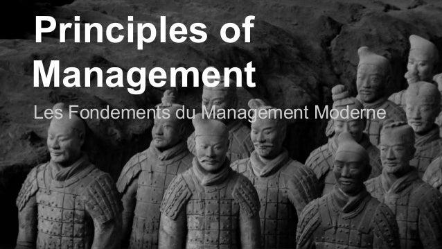 Principles of  Management  Les Fondements du Management Moderne