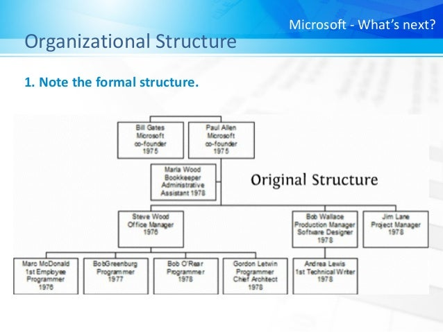Principles of Management] Microsoft - What's Next?