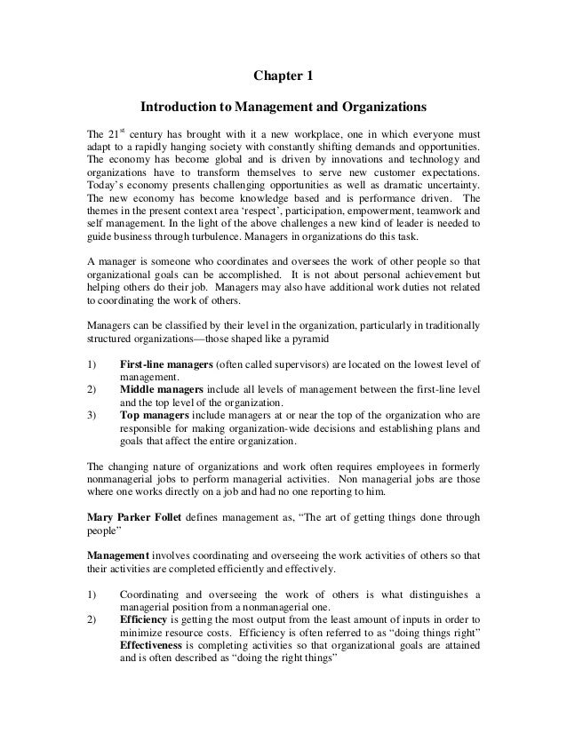 principles of management chapter review Principles of management v11 is a high  opening chapter, principles of management show students how  of management review and served on the.