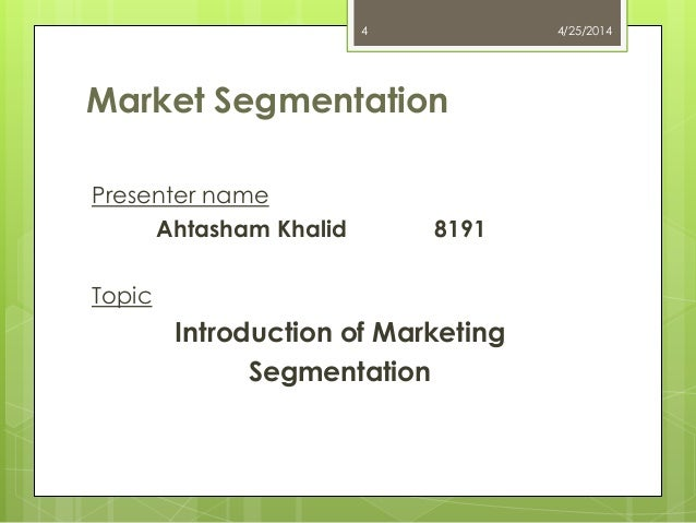 fundamentals of marketing segmentation essay Tesla motors: market segmentation essay tesla segmentation there are many ways to segment markets, but the most effective approach for tesla would be to use a concentrated segmentation strategy.