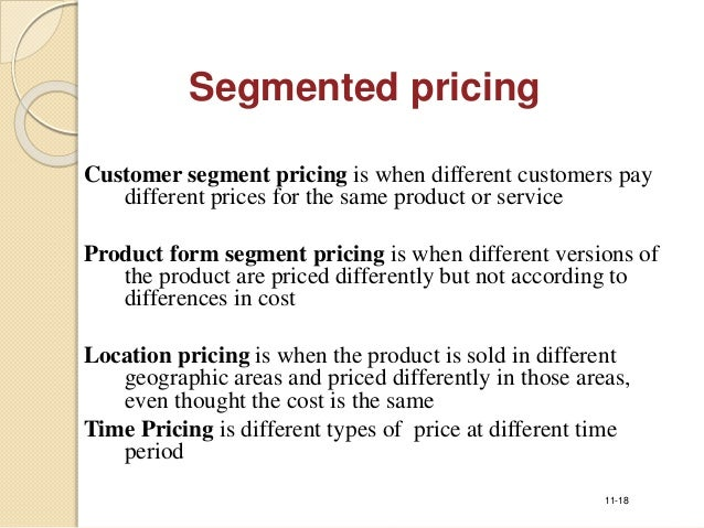 different types of pricing strategies in marketing pdf
