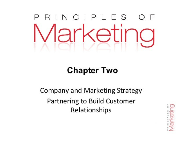 Chapter Two Chapter 2- slide 1 Chapter Two Company and Marketing Strategy Partnering to Build Customer Relationships