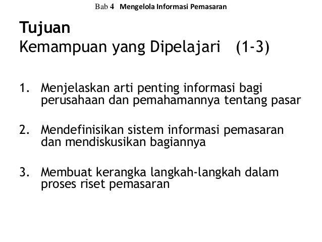 Mengelola Informasi Pemasaran - Bab 4 Prinsip-prinsip Pemasaran Kotler Armstrong Slide 3