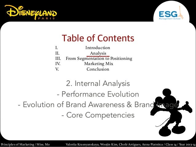 disneyland paris marketing analysis The brandguide table above concludes the disneyland paris swot analysis along with its marketing and brand parameters similar analysis has also been done for the competitors of the company belonging to the same category, sector or industry.