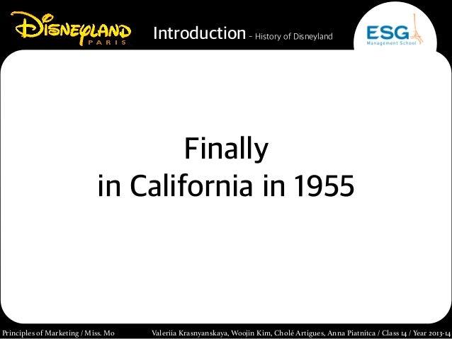 [Principles of Marketing] Disneyland Paris