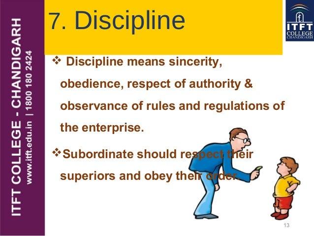 principles of discipline