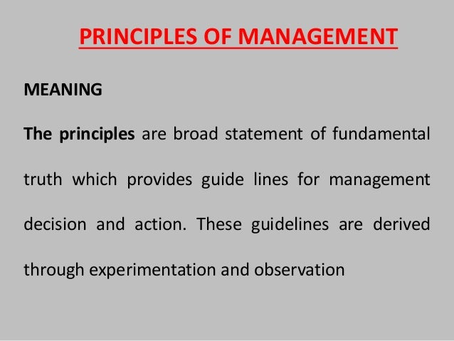 a reflection of the principles of management course Reflections on leadership contemporaries the need for selecting out and training a select few for one's own first principles is the mark of a.