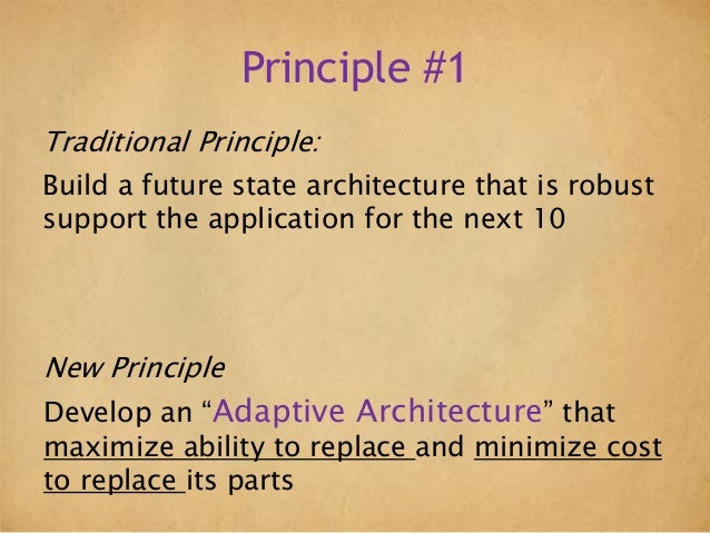 Principles Of Modern Application Architecture
