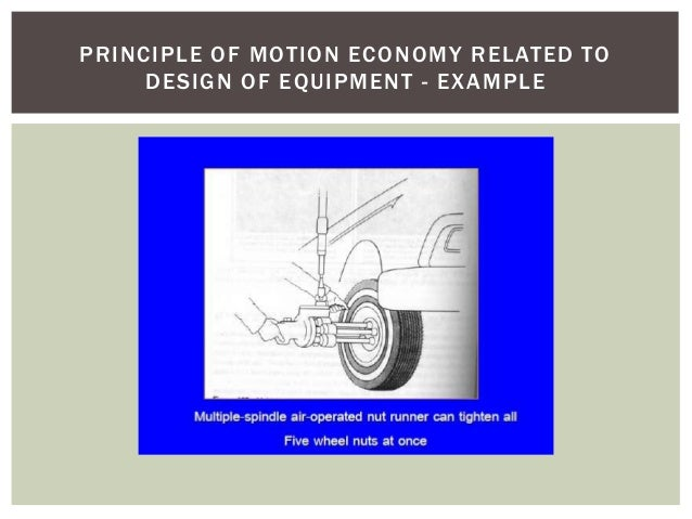 Motion Economy in Lean Manufacturing