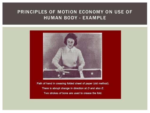 principles of motion economy What do you mean by motion economy  application of the principles of motion economy eliminates or minimizes wasteful and fatiguing movements and.