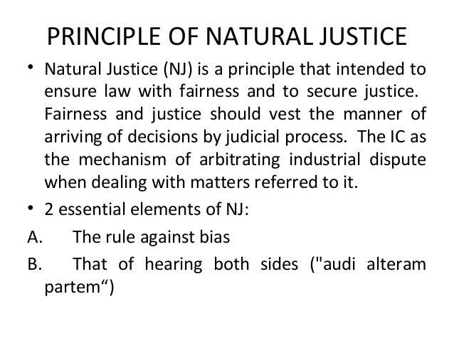 principles of natural justice in hrm