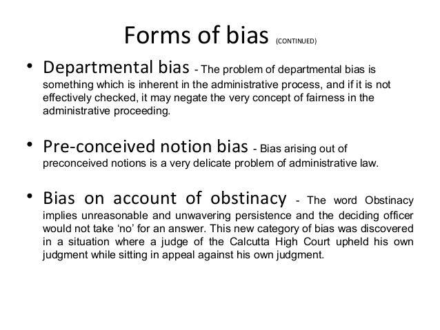 Adjudication: natural justice and bias