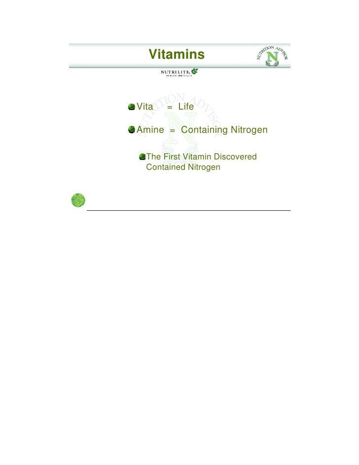Principles Of Nutrition By Nhi Vitamins