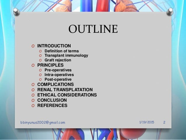 Principles of organ transplant Slide 2