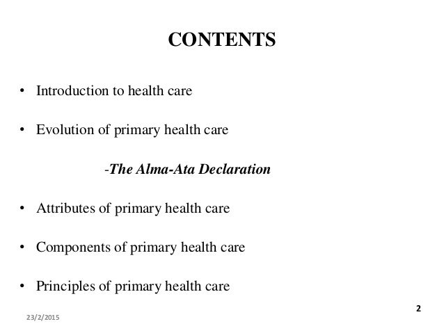 what was the focus of the 1978 alma alta declaration