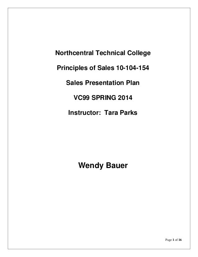 Bauer Resume Format Principles Of Sales Wendy Plan Refection