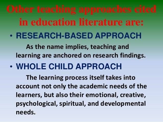 Principles of Teaching:Different Methods and Approaches