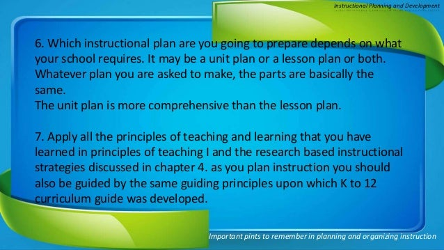 Chapter 6 Instructional Planning And Development By Dwein D