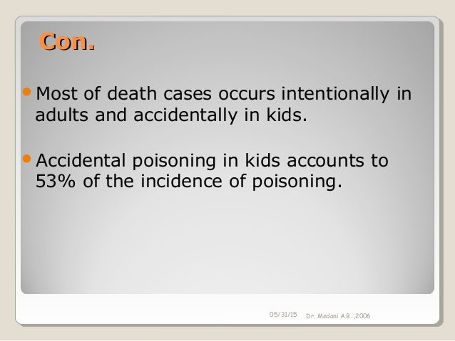 accidental poisoning in adults