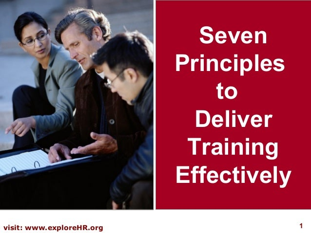 Seven                           Principles                               to                             Deliver           ...