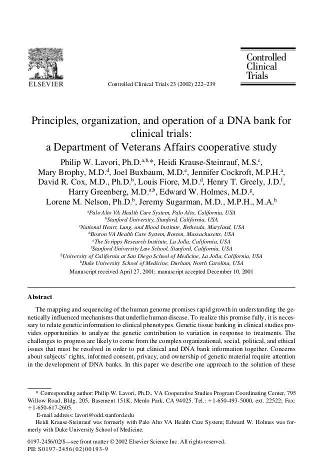 Controlled Clinical Trials 23 (2002) 222–239 0197-2456/02/$—see front matter © 2002 Elsevier Science Inc. All rights reser...