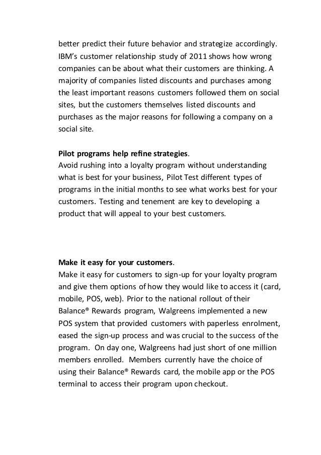 Principles to increase customer loyalty