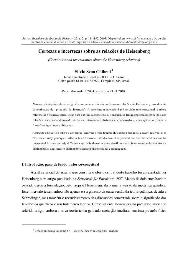 Revista Brasileira de Ensino de Física, v. 27, n. 2, p. 181-192, 2005. Disponível em www.sbfisica.org.br . (A versão publi...