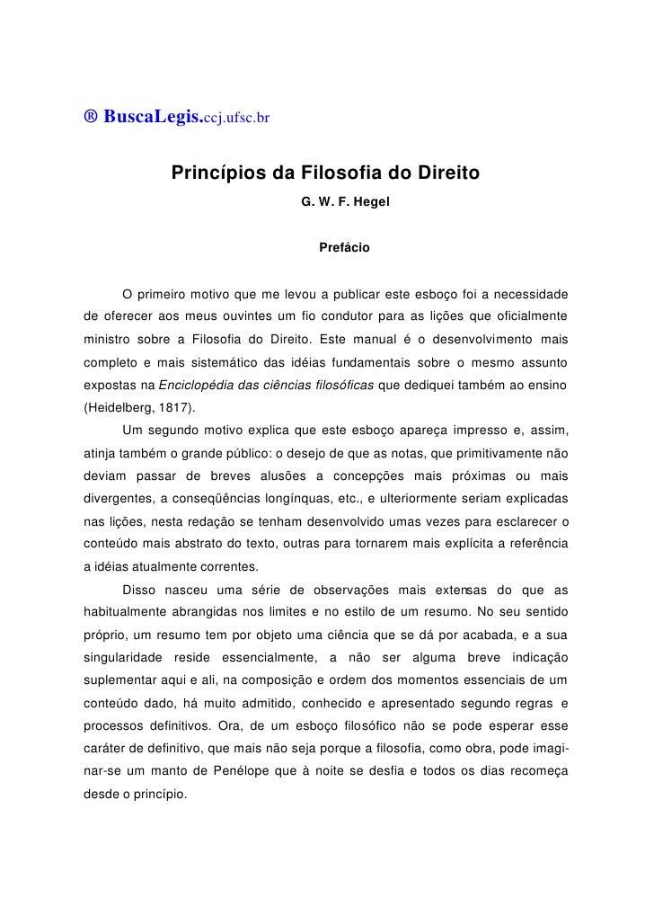 ® BuscaLegis.ccj.ufsc.br               Princípios da Filosofia do Direito                                     G. W. F. Heg...
