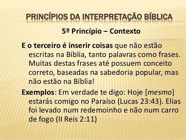 Princípios Da Interpretação Bíblica