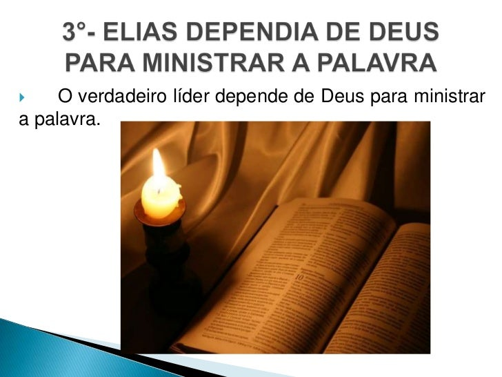     O verdadeiro líder depende de Deus para ministrara palavra.